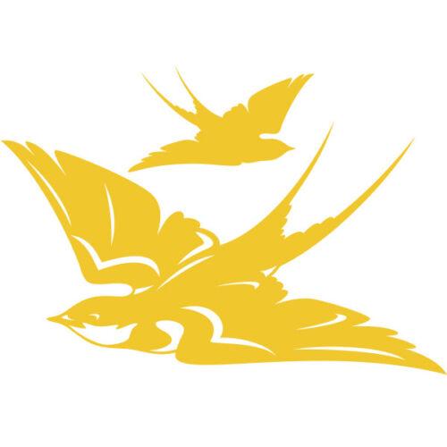 Sticker Décoration Animaux Oiseau Hirondelles Envolée, 20x29 cm à 30x44 cm