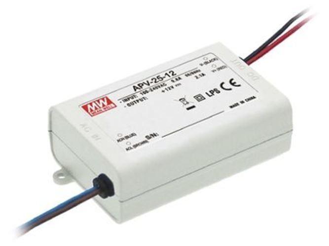 Mean Well APV-25-12, controlador de voltaje constante LED 25.2 W 12 V 2.1 A