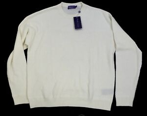 1-295-Ralph-Lauren-Purple-Label-Italy-Mens-Cashmere-Crew-Neck-Knit-Sweater-2XL