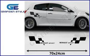 1-Paar-RENAULT-SPORT-Auto-Seiten-Aufkleber-Sticker-Decal-Car