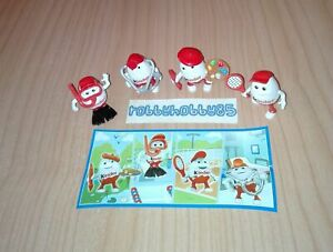 KINDERINO COMPLETE SET OF 4 WITH ALL PAPERS KINDER SURPRISE EGG TOYS 2017