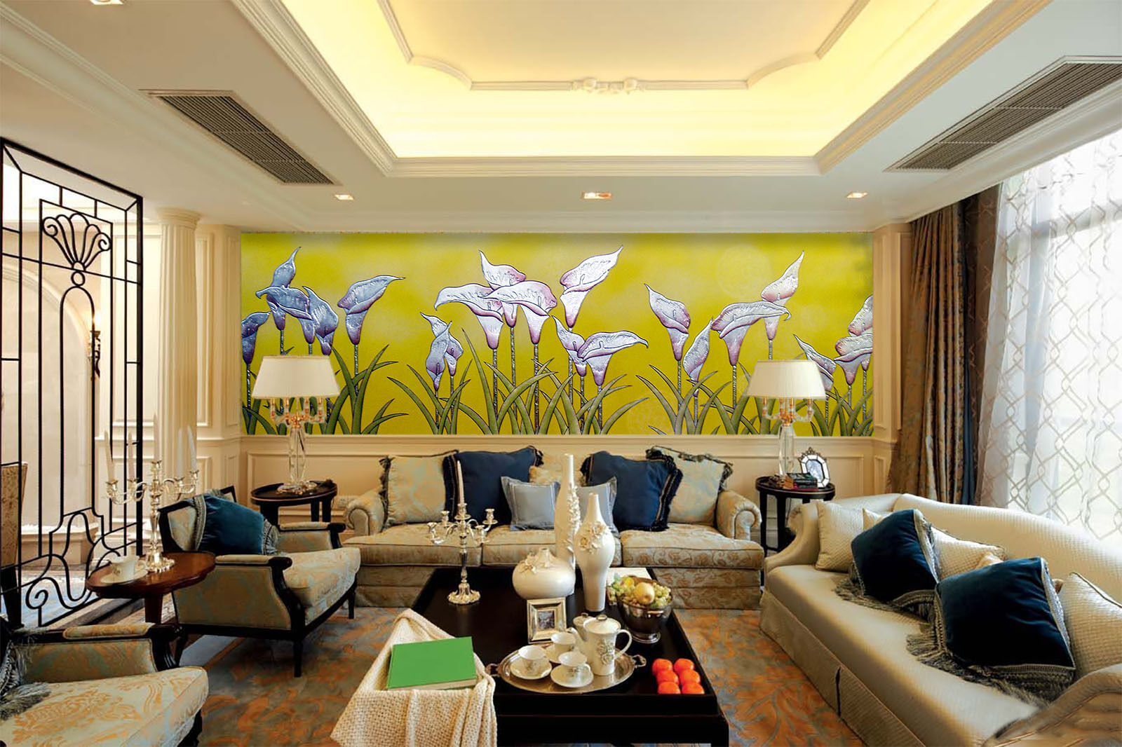 3D Blooming Plants 48 Wall Paper Wall Print Decal Wall Deco Indoor AJ Wall Paper