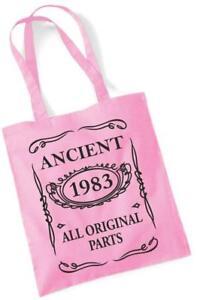 34. Geburtstagsgeschenk Tragetasche MAM Einkauf Baumwolltasche Antike 1983 alle