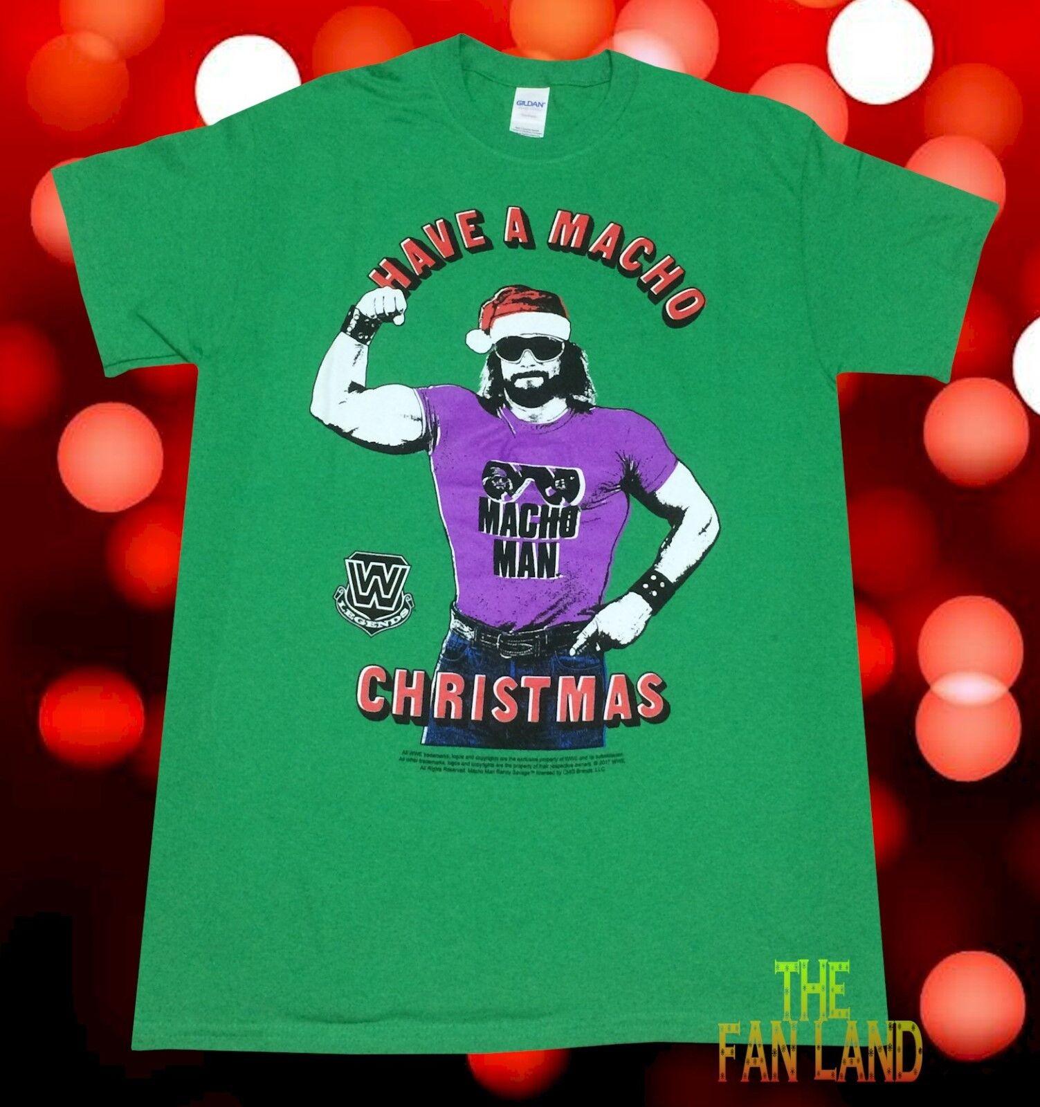 New Wwf Macho Man Randy Savage Have A Macho Christmas Mens Wwe