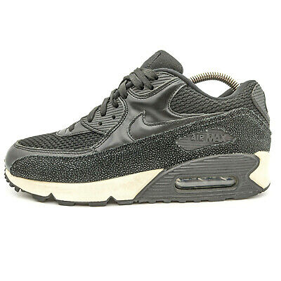 Nike Air Max 90 PA Leather LTR Stingray Black Low Sneakers Men's US 8 | eBay