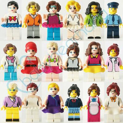 18pcs//set Cartoon Girl Lady Women Building Blocks Cute Bricks Models Figure Toys