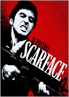 Scarface Al Pacino Classic Movie Large Poster Art Print Gift A0 A1 A2 A3 Maxi