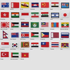 Image Is Loading Asia Australia Amp Oceania Country Flags Tiny Iron