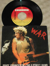 """Bruce Springsteen 7"""" War / Merry Christmas Baby 1986 PS"""