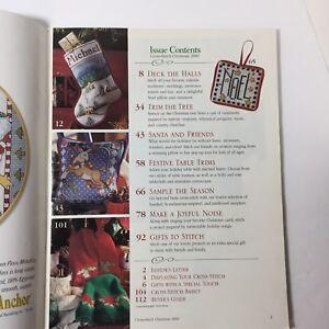 Better-Homes-amp-Gardens-Cross-Stitch-Christmas-2000-Magazine-Ornaments-Santa