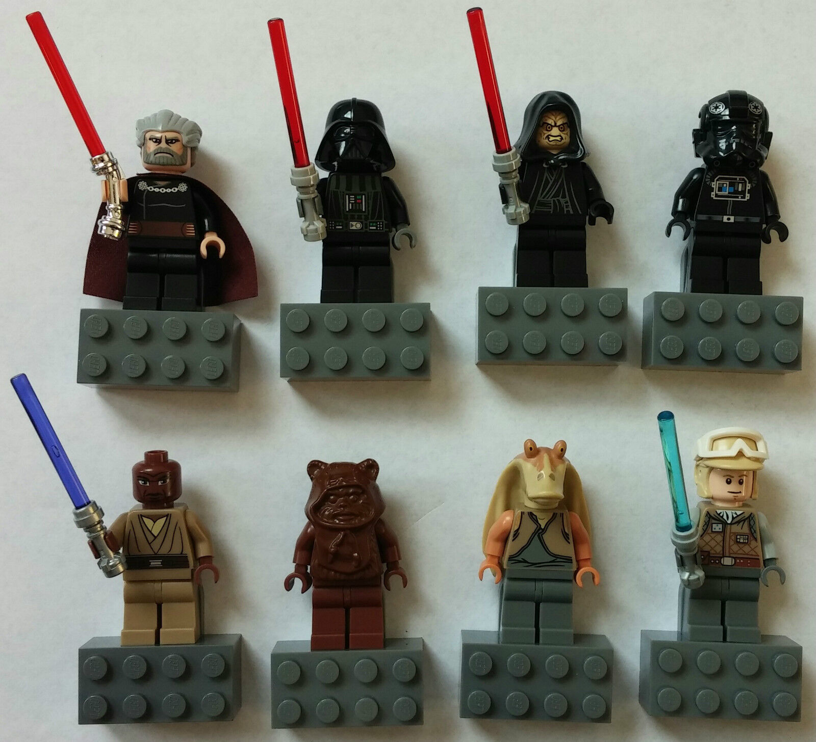 LEGO® Star Wars™ 8 Magnet-Figuren  Mace Windu   Count Dooku   Darth Vader ...