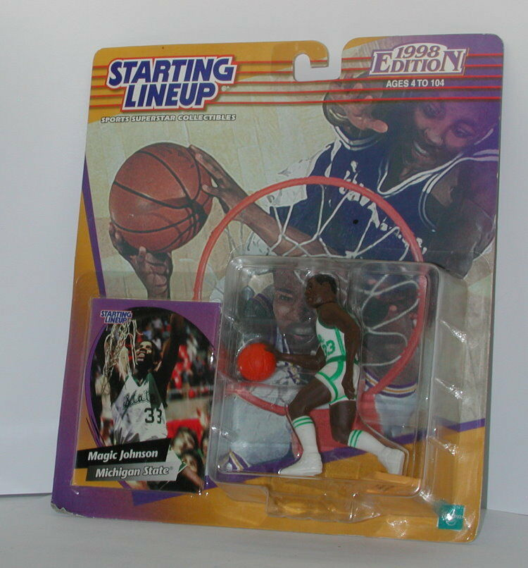 Starting Lineup Lineup Lineup Magic Johnson 1998 Edition SEALED 45dc03