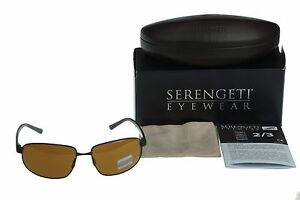 POLARIZED-SERENGETI-TRAPANI-Satin-Brown-Drivers-Gold-Mirror-Lens-Sunglasses-7600