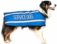 Coat Color Coded Blue Service Dog S M L Xl Fleece Lined Reflective Rainproof