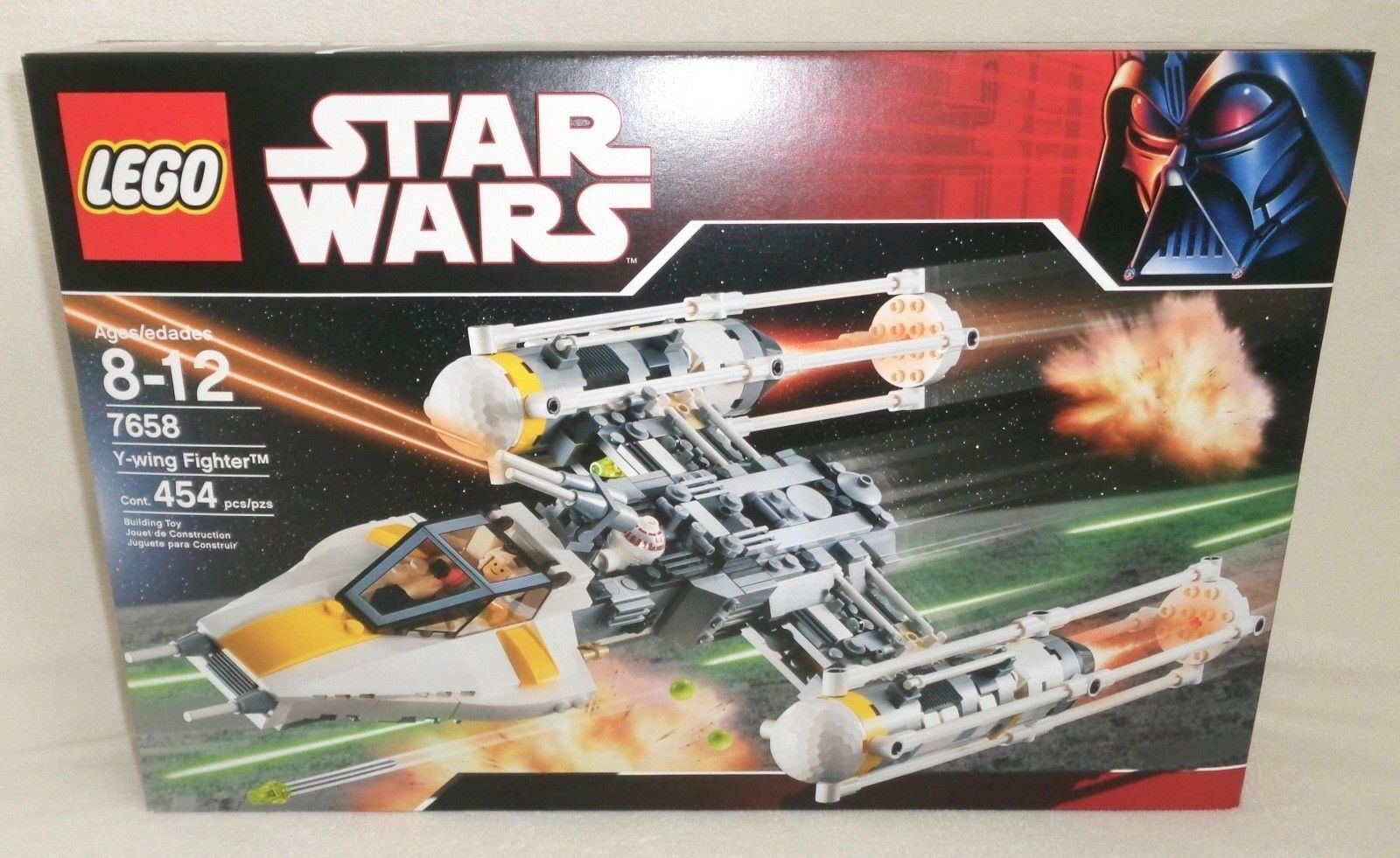 LEGO Star Wars Y-Wing Fighter (7658) Bomber R5-D4 Pilot 2007 BRAND NEW - SEALED