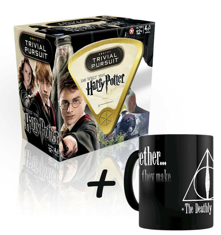 Trivial Pursuit Harry Potter Quizspiel + Magic Cup Cup   Deathly Hollows   New