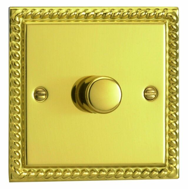 Other Home Lighting Equipment DIMMER LIGHT SWITCH POLISHED BRASS 1 GANG  2 WAY