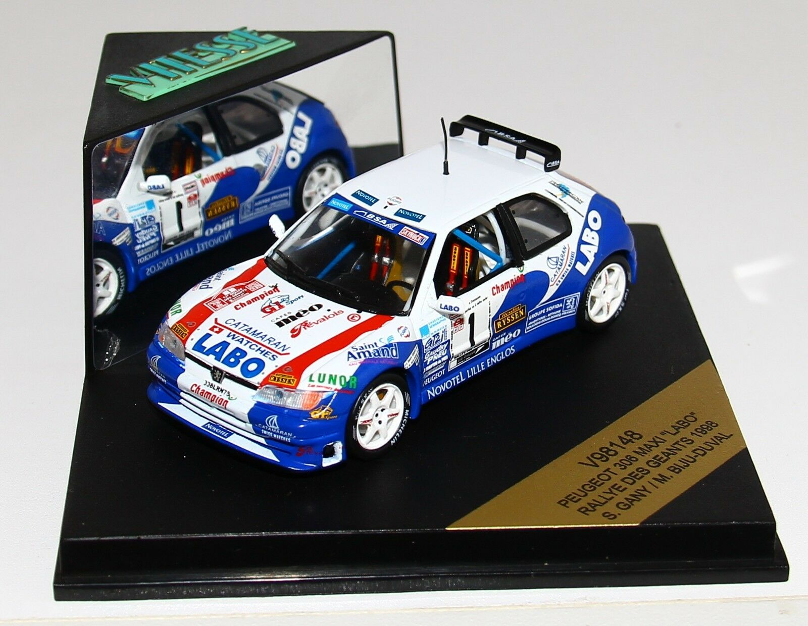 1/43 Vitesse V98148 Peugeot Peugeot Peugeot 306 Maxi Rallye des Géants 1998 Gany RARE | En Qualité Supérieure  9fb9cc