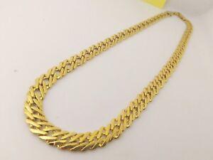 informazioni per 9f3d8 11b5e Dettagli su Collana Oro Giallo Elegante Unisex Catena Uomo Donna I Gioielli  Di Vicky
