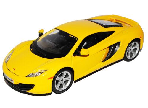 Mclaren mp4-12c Coupe amarillo 2011-2014 18-21074 1//24 Bburago modelo coche con Oda...