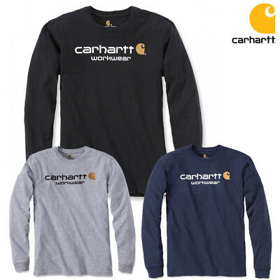 Carhartt T-Shirt Long Sleeve Logo Shirt New Size S M L XL XXL