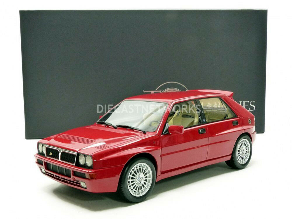 Top Marques 1987 Lancia Delta Integrale Evolution Rojo 1 12 Escala Le Of 100