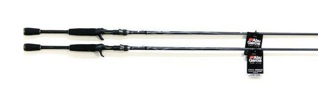 (2) Abu Garcia Orra Winch Rod 7' 0  Medium One-Piece Micro Guide Casting Rods