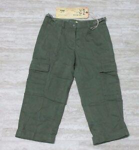 NEW-Da-Nang-Women-039-s-Capri-Pants-Gaucho-Pockets-RAW-TWW5296-Size-X-SMALL