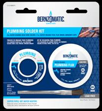 Silver Bearing Lead Free Plumbing Solder Kit W Flux Amp Brush Bernzomatic Ssw400pk