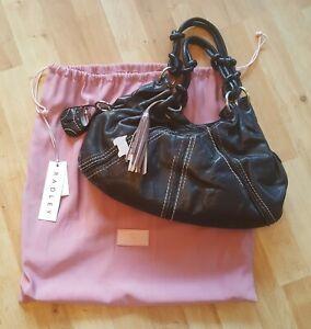 Grand sac porte en Vintage main à London et noir cuir Radley clés wtEqpt
