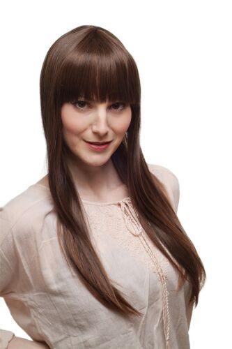 Women's Wig Naughty Fringe Braun Highlights Very Long Smooth 65cm 34212t33