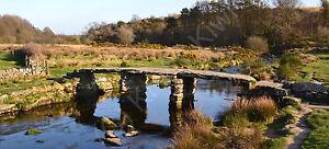 Postbridge-Clapper-Bridge-Dartmoor-Photo-Canvas-10-x-22-inch-panoramic-UK