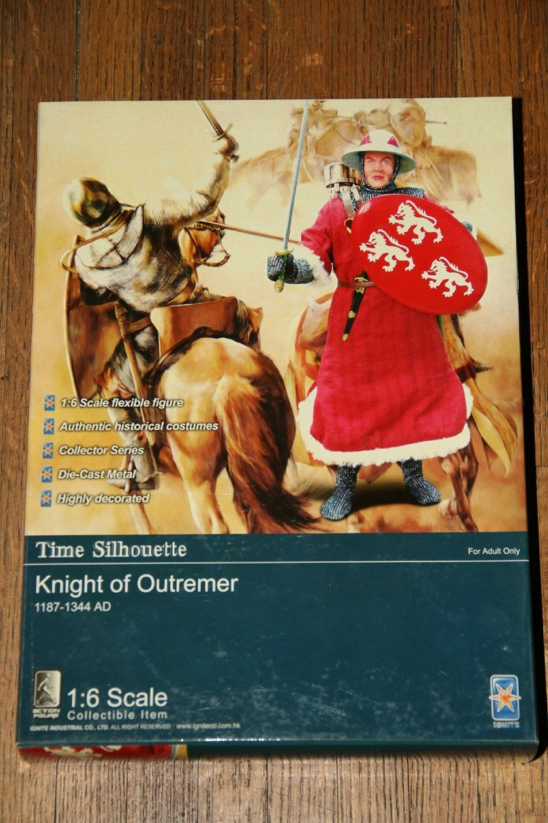 Ignite 1 6 scale 12  Time Silhouette KNIGHT OF OUTREMER Action Figure  CU014 MIB