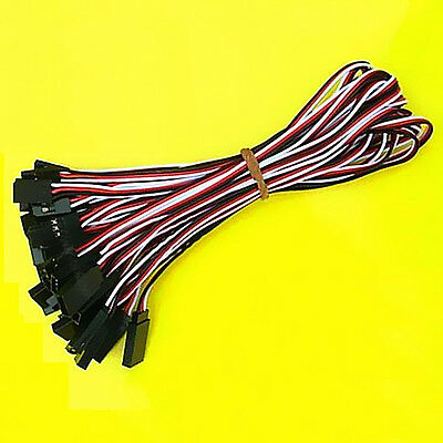 20 Pcs 30cm Servo Extension Lead Wire Cable For Futaba JR