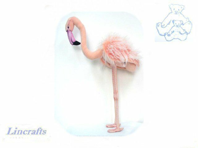 Hansa Large Flamingo 3708 3708 3708 Plush Soft Toy Bird Sold by Lincrafts Established 1993 978ae8