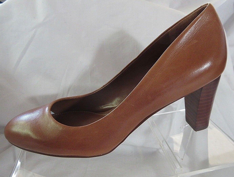Lauren Ralph Lauren damen 7.5M braun Leather 2.75  Med Heel Pumps Slip On schuhe