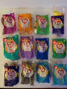 TY TEENIE BEANIE BABIES MCDONALDS  Happy Meal 1998 FULL SET OF 12 SEALED