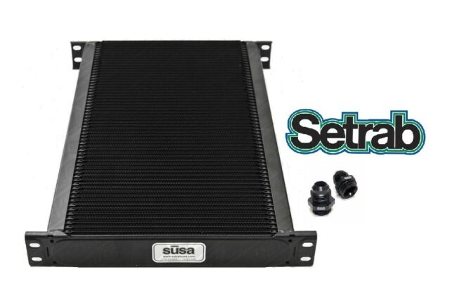 SETRAB OIL COOLER P/N  650 (50 ROW ) P/N 50-650-7612 with FITTINGS, FREE SHIP!