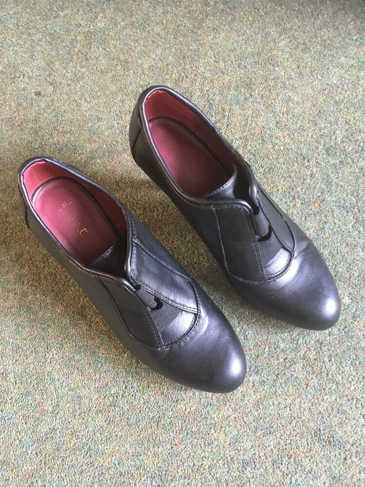Next Ladies Heeled Shoe 37.5 In Black Size Eu 37.5 Shoe 0ced36