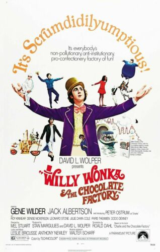 R011 WILLY WONKA AND THE CHOCOLATE FACTORY Movie-Print Art Silk Poster