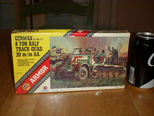 WW#2, GERMAN Sd. Kfz.7/1, 8 TON HALF TRACK QUAD 20mm AA. Plastic Model Kit, 1/72