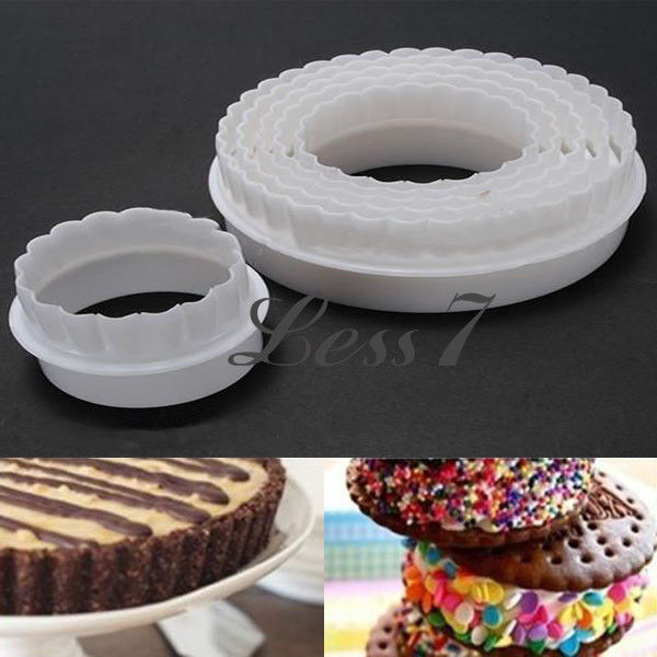 6X Round Cake Decorating Cookies Cutter Paste Sugarcraft Mold Tool Useful