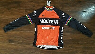 Brand New In Pack Retro Style Eddy Merckx Molteni Cycle Jersey Size Large