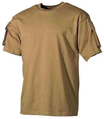 Maglietta TShirt with sleeve pocket COYOTE CB VELCRO s m l xl xxl xxxl xxxx