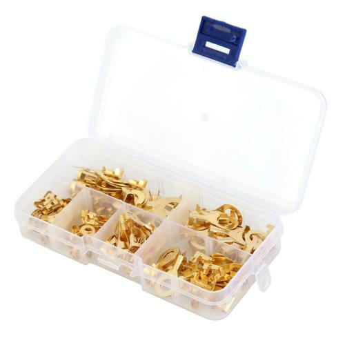 150x Wire Cable Connector Ring Type Crimp Terminal Electrical Non-insulated Kit