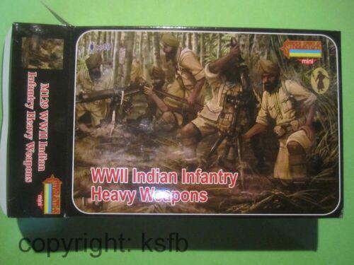 1:72 Strelets M129 WKII Indien Infanterie mit MG Scherenfernrohr Granatwerfer