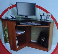 Brand In Box Staples Inspire Cherry Laminate Corner Computer Desk, 714651
