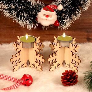 tea-light-lampe-de-table-chandelier-porte-bougie-wood-noel-flocon-de-neige