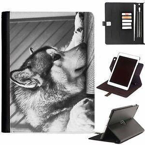 Wolves-Wolf-de-Lujo-Apple-Ipad-360-Giratorio-i-Pad-Funda-Piel-para-Ranura