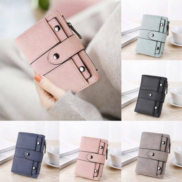 UK Women/'s Leather Short Folding Pocket Purse Wallet Coin Card Clutch Bag Holder